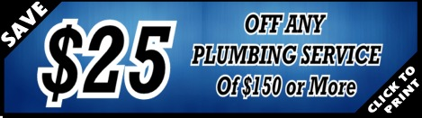 $25 Off of Houston Plumber Services - YB Discounts & Coupons!