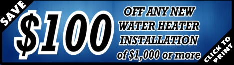 $150 Off Water Heater Installation for Houston Plumber Services - YB Discounts & Coupons!
