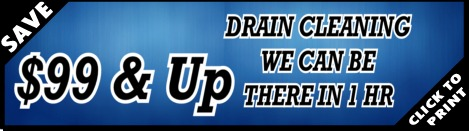$99 Drain Cleaning with our Houston Plumber Services - YB Discounts & Coupons!